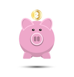 icon of pig bank vector image vector image