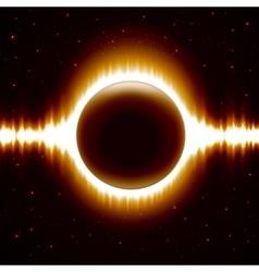 Space Background With Dark Orange Eclipse vector image vector image