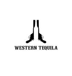 Western tequila vector