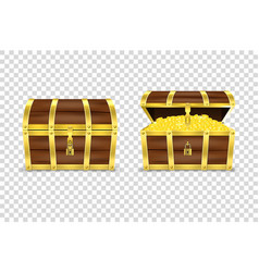 3d realistic closed and opened retro vector image