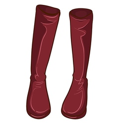 A pair maroon boots vector