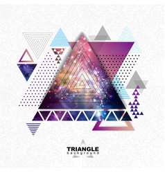 Abstract hipster polygonal triangle background vector