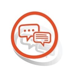 Answering sign sticker orange vector