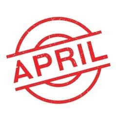 April rubber stamp vector image
