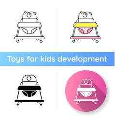 Baby walker icon vector