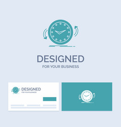 backup clock clockwise counter time business logo vector image