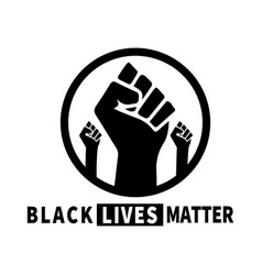 black lives matter and white depicting vector image