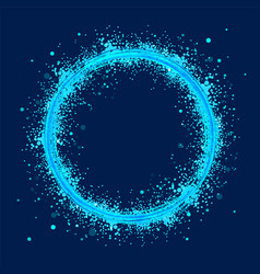 Blue abstract ring with grunge whirlwind of vector
