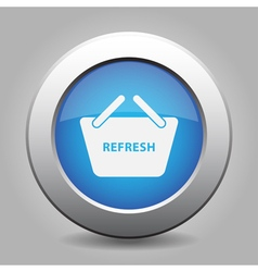 Blue button shopping basket - refresh vector