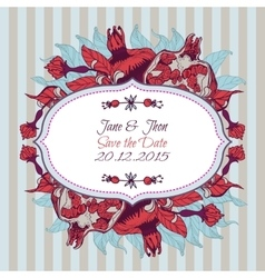 Bright pomegranate postcard banner or lable vector