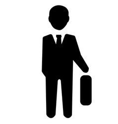 businessman officer icon vector image