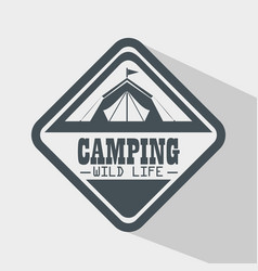 camping outdoor adventure logo vector image