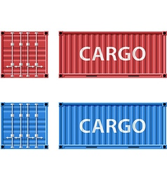 cargo container Stock vector image