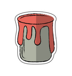 cartoon paint can colo icon vector image