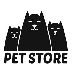 cat store logo simple style vector image