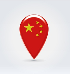 Chinese icon point for map vector