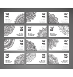 Collection Business card or invitation vector