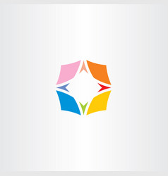 Compass symbol colorful icon logo vector