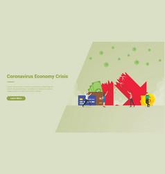 Corona virus economy crisis campaign concept for vector