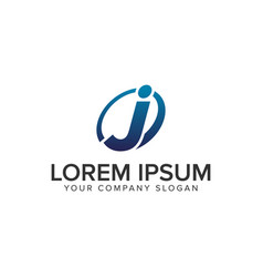 creative modern letter j logo design concept vector image