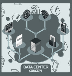 data center color concept vector image