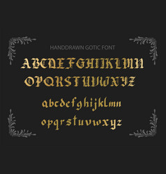 Decorative vintage styled letters vector