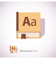 Dictionary book icon vector