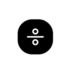 Division science formula and mathematics icon vector
