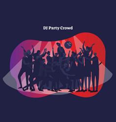Dj party crowd nightclub vector