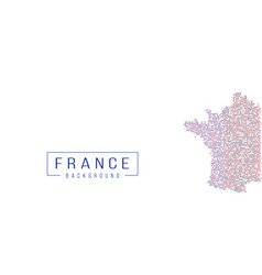France country map backgraund made from halftone vector