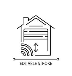 garage door opener linear icon vector image