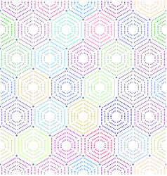 geometric repeating ornament with hexagonal vector image