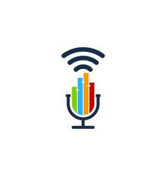 Graph podcast logo icon design vector