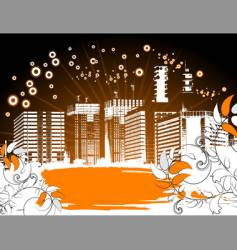 grunge city background vector image