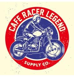 Grunge style cafe racer badge vector