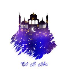 Grunge style eid al adha background vector