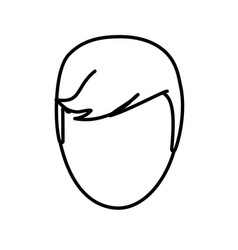 Head man male line vector