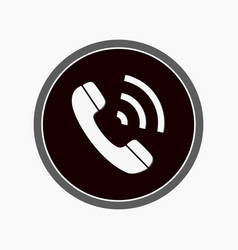 im instant messenger phone handset icon with vector image