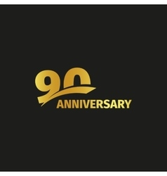 Isolated abstract golden 90th anniversary logo on vector image