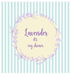 lavender elegant card vector image