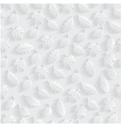 Leaves 3d Seamless Pattern Background vector