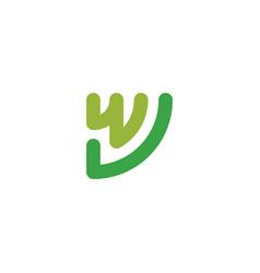 letter w initial logo design symbol inspiration vector image