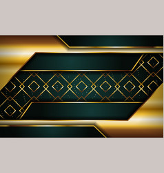 Luxurious premium navy green abstract background vector
