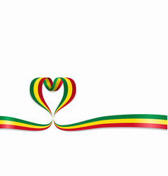 malian flag heart-shaped ribbon vector image