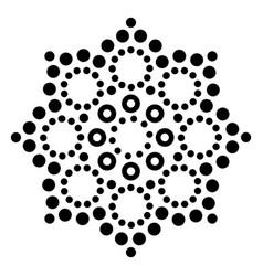 mandala australian dot paiting design vector image