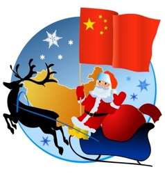 Merry Christmas China vector