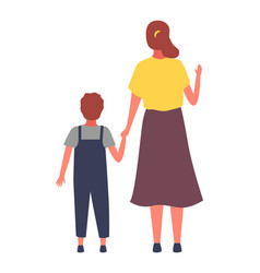 mom and son backside view vector image