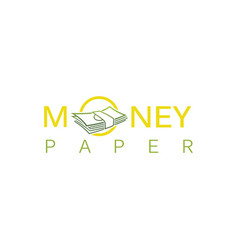 money paper logo vector image