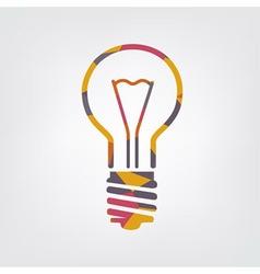 mosaic light bulb vector image