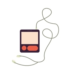 music player device vector image